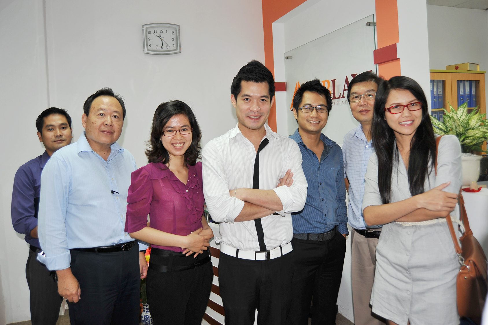 Take picture with Thai Client