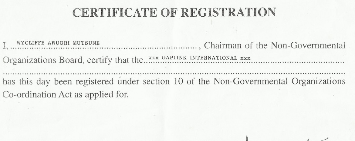Business Seal – certificate of business registration