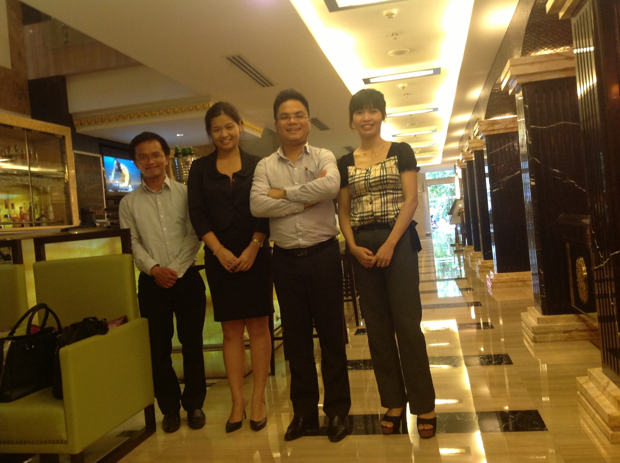 Business meeting with Hong Kong Client